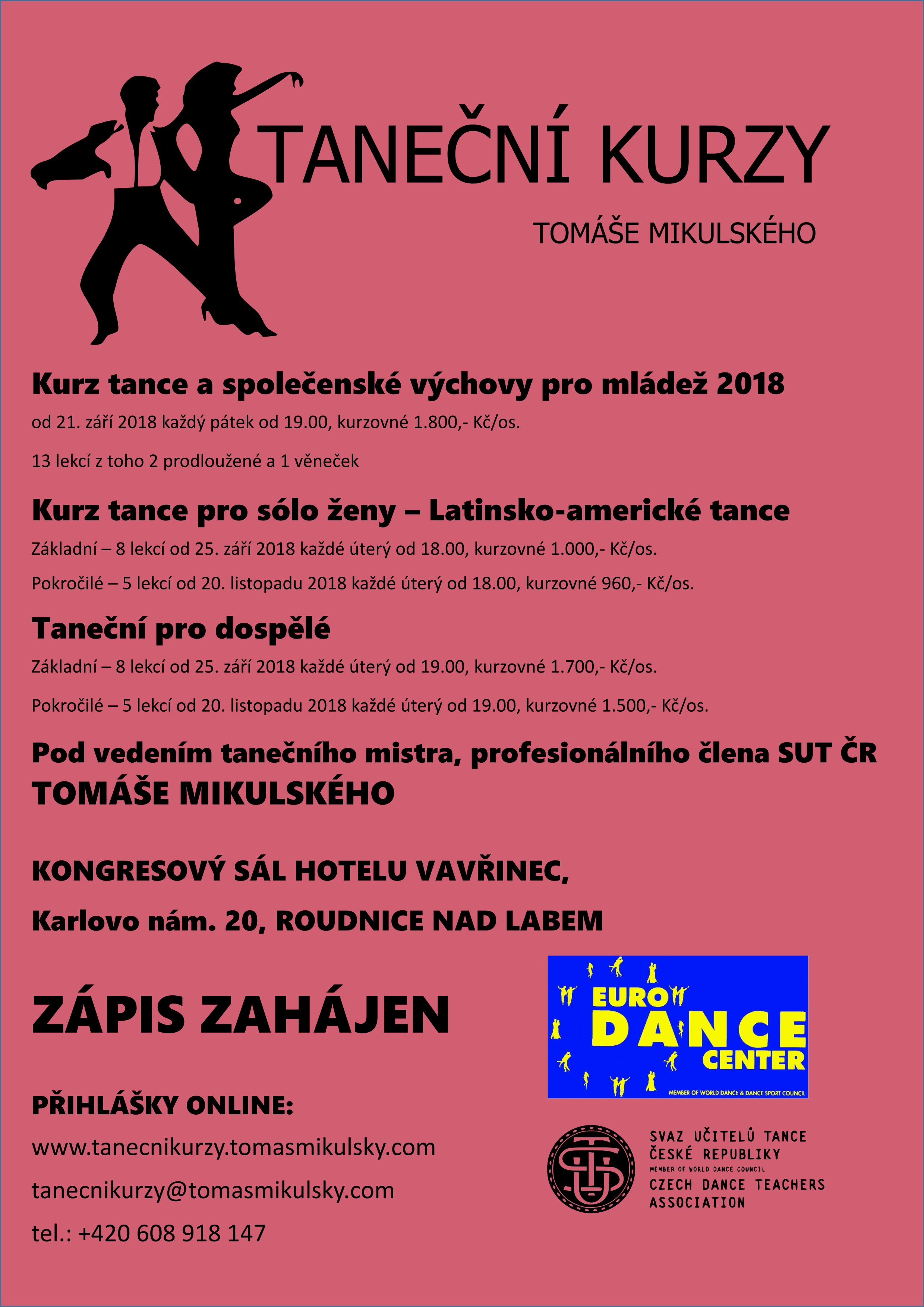 Kurz tance a společenské výchovy pro mládež 2018