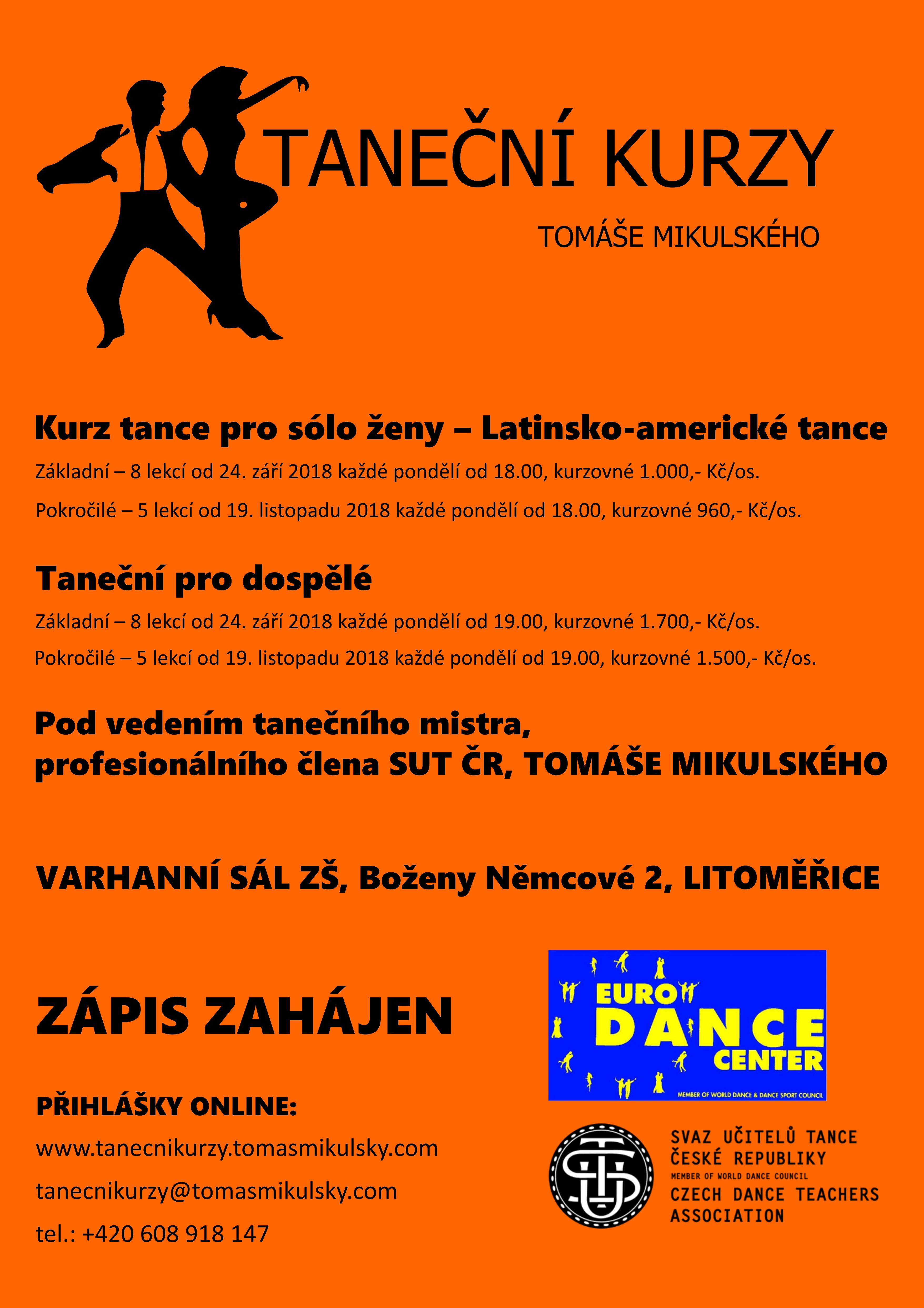 Kurz tance a společenské výchovy pro mládež 2018_2